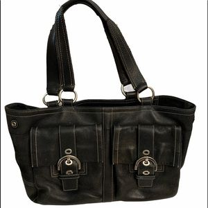 Coach Soho double pocket carryall shoulder bag